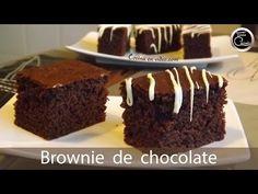 Brownie de chocolate. Rápido y muy rico. Bizcocho de chocolate.