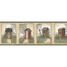 Brewster Home Fashions Countryside Fisher Country Outhouses x Scenic Embossed Border Wallpaper Coastal Wallpaper, Botanical Wallpaper, Hydrangea Wallpaper, Embossed Wallpaper, Textured Wallpaper, Wallpaper Borders, Wallpaper Designs, Brick Wallpaper Roll, Lodge Style
