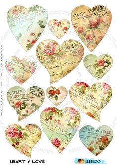 Coeurs de carte