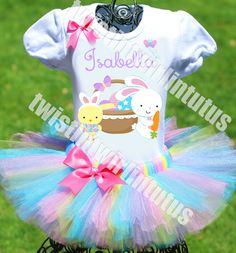 STUNNING Easter tutu outfit | Easter Outfit for Girls | Easter Ideas for Kids | Twistin Twirlin Tutus