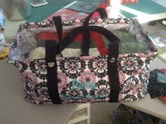 Large Utility Tote, used for carrying my quilt projects to and from my sewing get togethers.