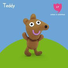 Ursinho Teddy  #teddy #ursinho #peppapig #feltro #felt #lycoisasecoisinhas  www.lycoisasecoisinhas.worpress.com