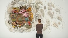 Our Changing Seas: A Ceramic Coral Reef by Courtney Mattison sculpture ocean environment coral climate change ceramics Environmental Sculpture, Environmental Science, Ouvrages D'art, Colossal Art, Art Moderne, Science Art, Western Art, Art Design, Design Ideas