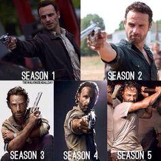 Rick Grimes Season 1 thru 5