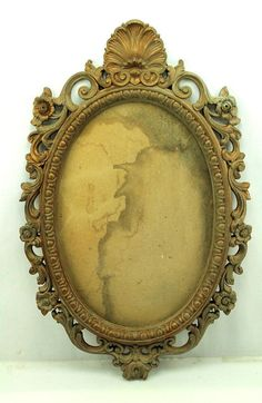 28 x 19 Ornate Victorian Nouveau vintage Gold Gilt Oval Picture Mirror Frame #Victorian