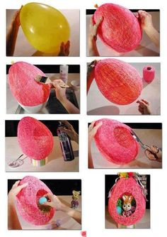 Diy Discover Wonderful DIY Easter String Egg / Basket DIY Easter crafts diy fun crafts with balloons - Fun Diy Crafts Egg Basket Easter Baskets Gift Baskets Easter Projects Easter Crafts Easter Ideas Easter Gifts For Kids Easter Recipes Fun Diy Crafts Diy For Kids, Crafts For Kids, Arts And Crafts, Easter Projects, Easter Crafts, Easter Ideas, Easter Gift, Diy Projects, Easter Party