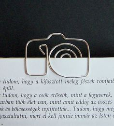 Camera  wire bookmark by TuranianWalk on Etsy, $6.50