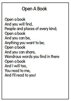 open a book poem