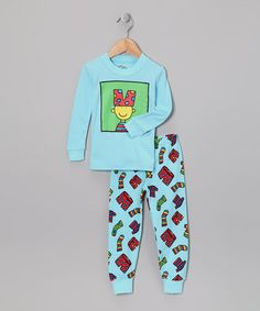 Take a look at this Blue Silly Boy Pajama Set - Infant, Toddler & Boys by Sweet Slumber: Kids' Pajamas on #zulily #fall today!