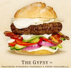 Cheeseburger Hall of fame The Gypsy #burger #recipe
