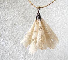 Lace  garland - wedding decoration - garden party - spring décor - blossom garland