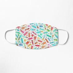 """Rainbow Stationary and Art Supplies - White"" Mask by micklyn 