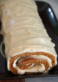 Pumpkin Spice Roll With Salted Caramel Mousse Recipe ~ absolutely delicious!