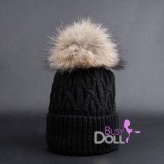 New! Large Genuine Raccoon Fur Pompom knitted Braided Beanie Black Hat Big Raccoon POM by BusyDOLL on Etsy https://www.etsy.com/listing/251071898/new-large-genuine-raccoon-fur-pompom
