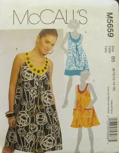 McCall's 5659 Misses' and Women's Dresses by SewYesterdayPatterns (Craft Supplies & Tools, Patterns & Tutorials, Sewing & Needlecraft, Sewing, commercial, sewing pattern, simplicity pattern, craft supplies, sewing supplies, craft pattern, sewyesterdaypatterns, collectibles, misses womens, misses dress pattern, womens dress pattern, dress pattern, size 8 10 12 14 16)