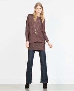 KNIT SWEATER WITH TAILORED HEM