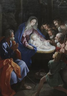 Detail -The Adoration of the Shepherds, Guido Reni, about 1640 | da Kotomi_