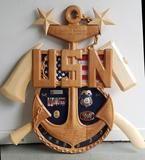 Chief Senior or Master Chief Anchor Shadow Box Military Shadow Box, Us Coast Guard, Cnc Projects, Scroll Saw Patterns, Veterans Day, Master Chief, Anchor, Shadowbox Ideas, 3 D