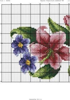 Cross Stitch Borders, Cross Stitch Flowers, Cross Stitching, Cross Stitch Patterns, Holiday Crochet Patterns, Christmas Embroidery Patterns, Hama Beads Patterns, Beading Patterns, Diy Lace Ribbon Flowers