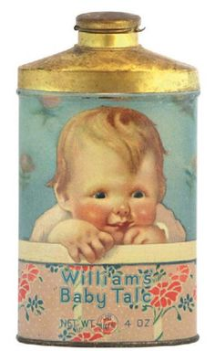 William's Baby Talc tin , early litho