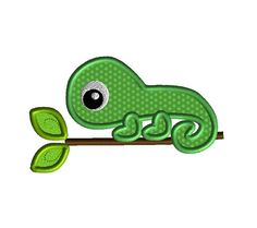 Chameleon Applique Machine Embroidery Design-INSTANT DOWNLOAD