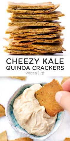Gluten Free Crackers, Vegan Crackers, Gluten Free Snacks, Vegan Snacks, Dairy Free Recipes, Vegan Gluten Free, Healthy Snacks, Snack Recipes, Meat Recipes