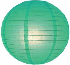 8' Teal Round Paper Lanterns (Pack of 10), Green