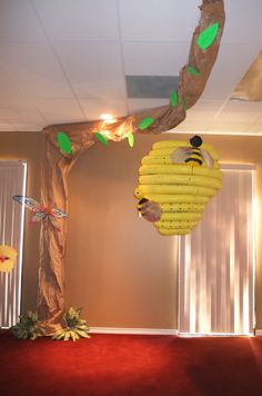 Weird Animals VBS Grace Point Church  Abilene, TX Giant beehive at the back of church