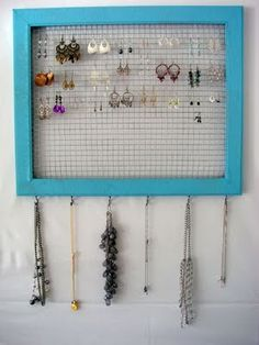 My earring collection is getting out of control. Love the chicken wire idea.
