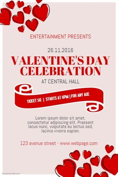26 Best Valentines Day Poster Template Images On Pinterest
