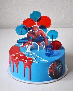 Spiderman Cake Ideas for Little Super Heroes - Novelty Birthday Cakes Spiderman Cake Topper, Spiderman Birthday Cake, Superhero Cake, Spiderman Pasta, Batman Cakes, Novelty Birthday Cakes, 3rd Birthday Cakes, Novelty Cakes, Cake Designs For Kids