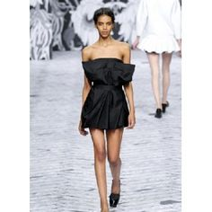 Viktor & Rolf - czarna sukienka z kokardą