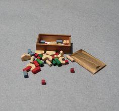 Signed David Krupick toy blocks, 2003