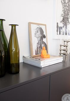 Grey accents in the home of Sanna Fischer Nordstrom