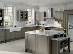 Image result for grey kitchen units