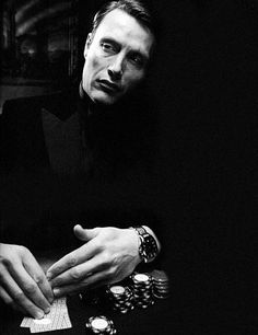 Le Chiffre, in James Bond's Casino Royale (2006), played by the Danish actor Mads Mikkelsen. Mads Madness!