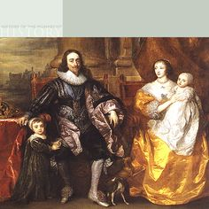 Portrait of King Charles I, Queen Henrietta Maria and their two eldest children.  Their son was invited back to England as King Charles II in 1660-The Royal Collection @2006, Her Majesty Queen Elizabeth II