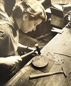 Betty Cooke, early Modernist in silver jewelry design.