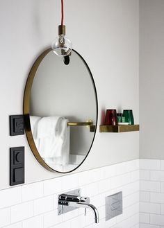 black pug points with brass detailing / shower / shelf Scandinavia trip by AMM blog, via Flickr
