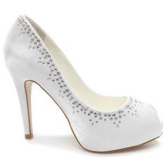 Sapato Laura Porto Peep Toe MH9369 (Noiva)