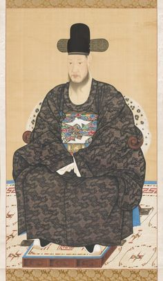 Portrait of Scholar-official Robe Korea, Korean, Joseon dynasty century Paintings Hanging scroll, ink and color on silk Image: 53 x 30 in. Mount: 68 x 33 in. Roller: 36 in. cm) Purchased with Museum Funds Korean Art Korean Traditional, Traditional Art, Traditional Outfits, Korean Art, Asian Art, Silk Image, Korean Painting, Costume, China