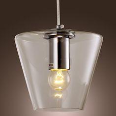 40W moderne anheng lys med høy-transparent Glass Shade – NOK kr. 613