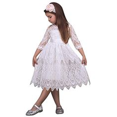 9aab9f62eaca5 Fheaven Toddler Baby Girl Clothes Heart Sequins Party Princess Tutu Tulle  Sleeveless Dress Outfits Sundress (White, Years) *** Details could be  discovered ...
