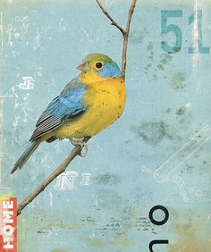 Bird collage - art journal inspiration
