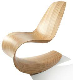 Savannah Bent Wood Rocking Chair by Joyon Yates: Made of birch ply.