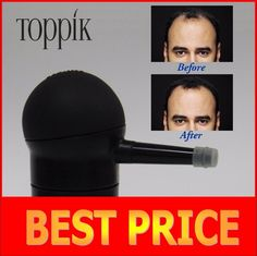 [Visit to Buy] Toppik hair spray applicator hair building fibers pumps 10g,12g,25g,27.5g,30g black color, with brand box /pack in refill bag #Advertisement
