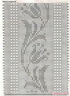 , Tunic made of flax. – Everything is broken … (knitting crochet … - Diy And Craft Filet Crochet Charts, Crochet Motifs, Crochet Borders, Cross Stitch Borders, Crochet Diagram, Thread Crochet, Crochet Doilies, Knit Crochet, Crochet Patterns