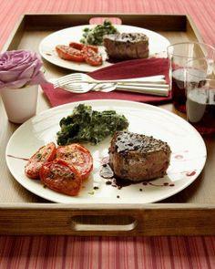 Valentine's Day Menu // Pepper-Crusted Filet Mignon Recipe