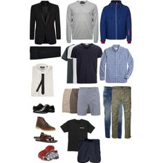387be51c90 Men s summer travel capsule by minmcd on Polyvore featuring polyvore