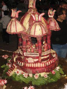 The Radish Festival, famous in Oaxaca, December 23rd.